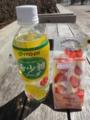 ローソンのあまおう苺のフルーツサンドと希少糖ソーダ