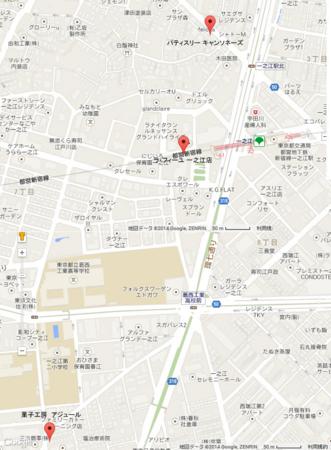 一之江ケーキツアー地図