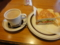 ピノキオのトーストとカフェオレ