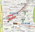 代々木八幡ケーキ地図