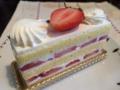 カフェミクニズのショートケーキ