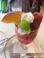 フルーツパーラーフクナガのプラムのパフェ