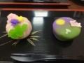 埼玉菓匠花見の練り切り