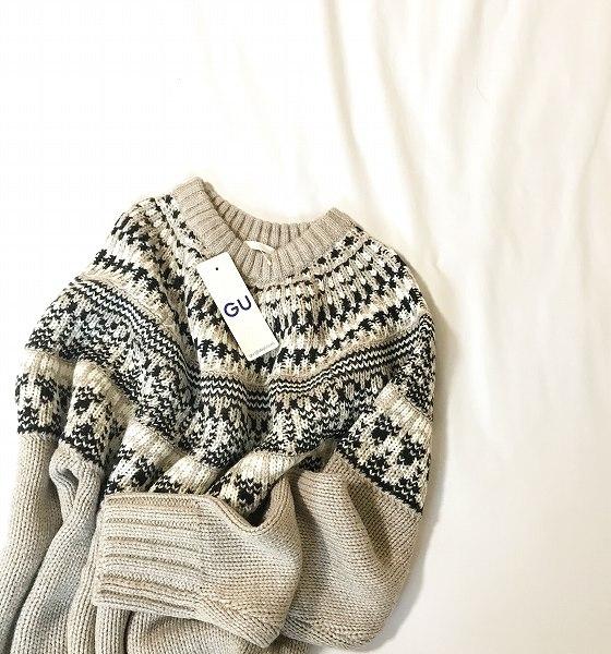 メンズ ローゲージノルディックセーター