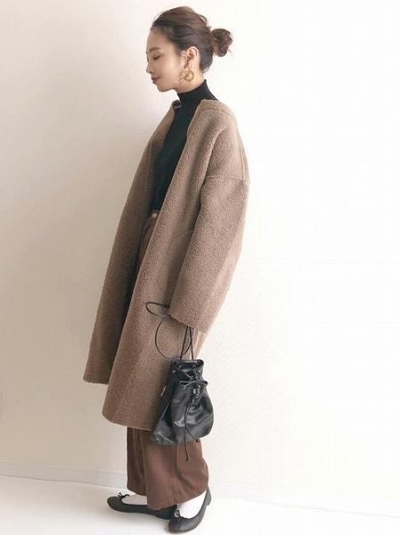 ロングコートが大人っぽいオシャレコーデ