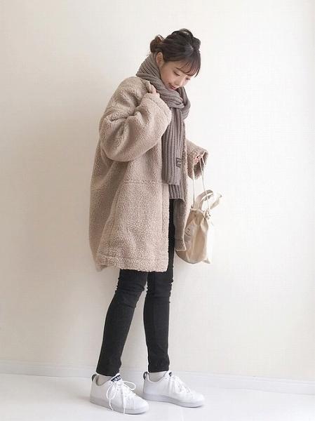 この冬本命アウター♡絶対使える『ボアコート』で大人カジュアルな着こなし術