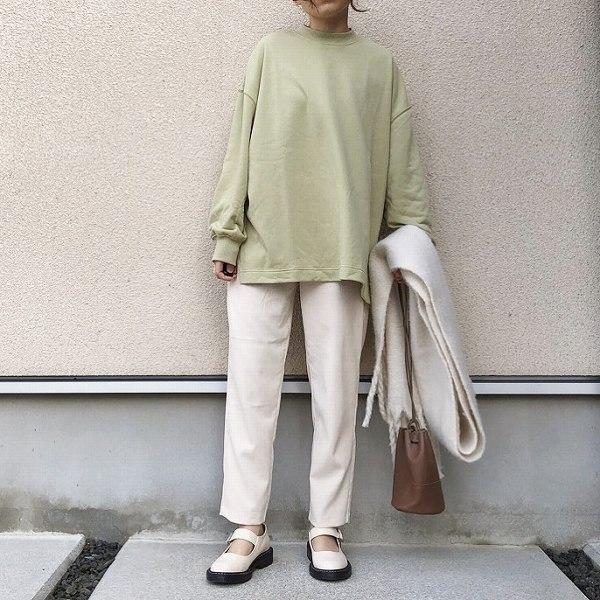 参考にしたいGUコーデ♡オシャレ女子の『ミントグリーンスウェット』着こなし術