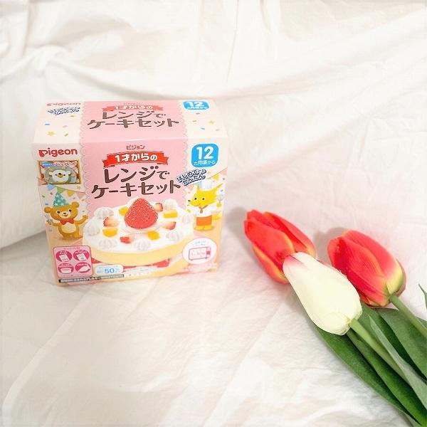 """子どものお誕生日に作りたい♡ピジョン""""1才からのレンジでケーキセット""""で簡単手作りケーキ"""