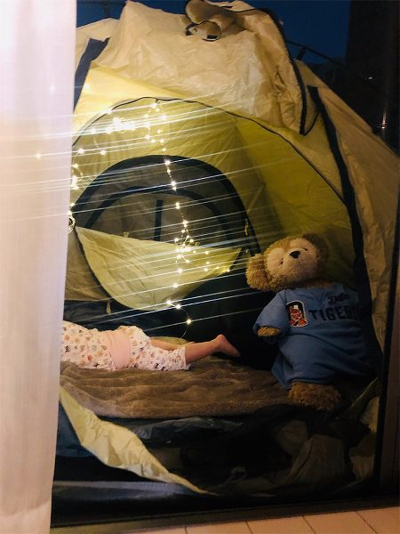 【スザンヌの妹マーガリンの子育てin熊本】念願のテント購入❤️家テントで楽しみました🌈😚
