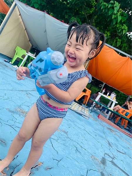 【スザンヌの妹マーガリンの子育てブログ】今年初プール!エミナースへ行ってきたよ♡