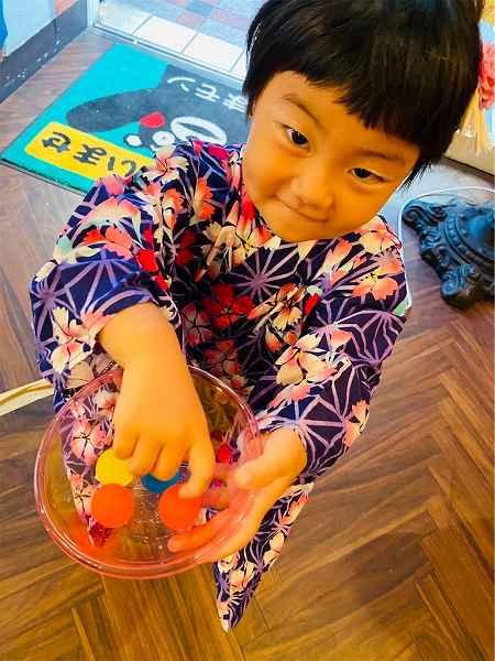 【スザンヌの妹マーガリンの子育てブログ】夏休み!手作り縁日で浴衣祭り♡