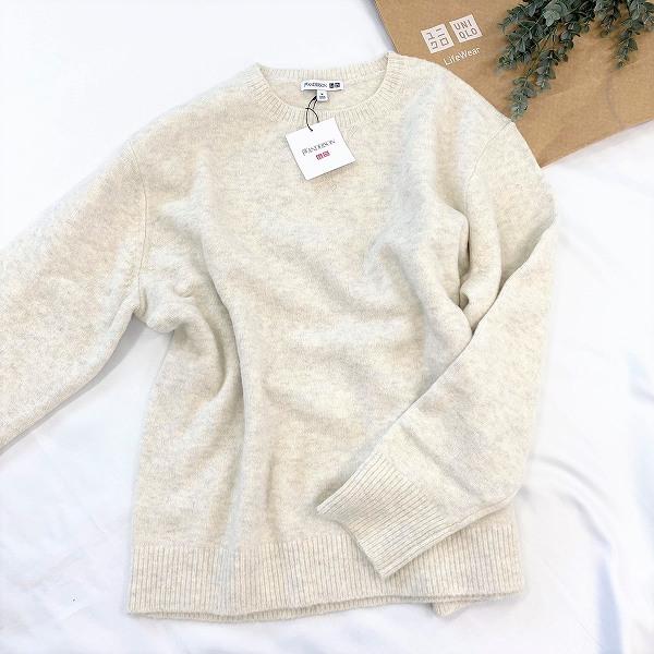 スフレヤーンクルーネックセーター