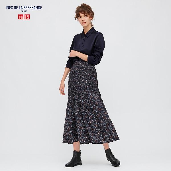 ツイストプリーツロングスカート