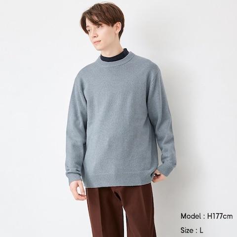 ソフトラムブレンドクルーネックセーター