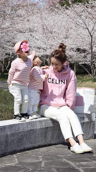 セリーヌ購入品🌸近くの公園にお花見へ👶🏻👦🏻【人気インスタグラマー@ask_____10ブログ】
