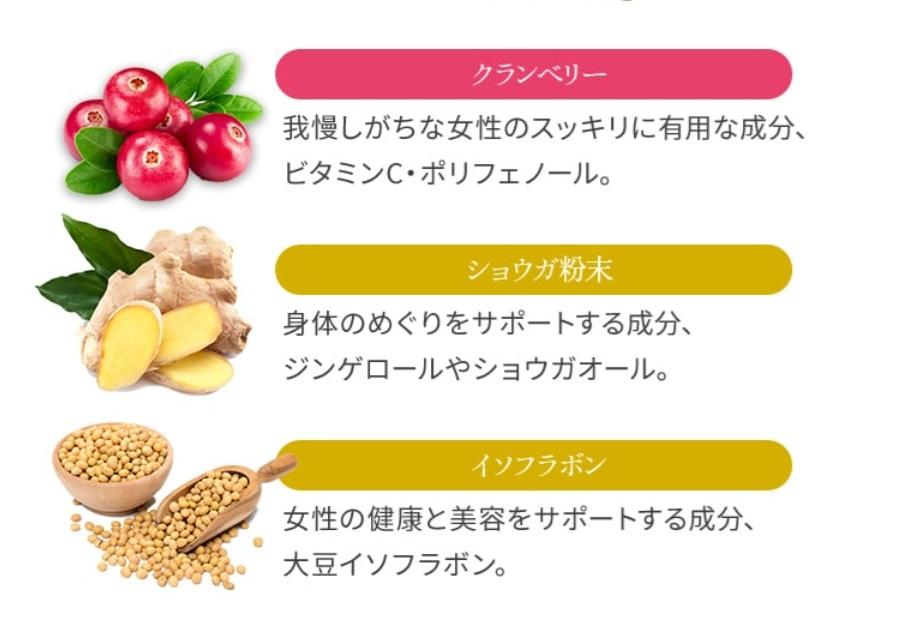 大豆イソフラボンなど女性が喜ぶ栄養素