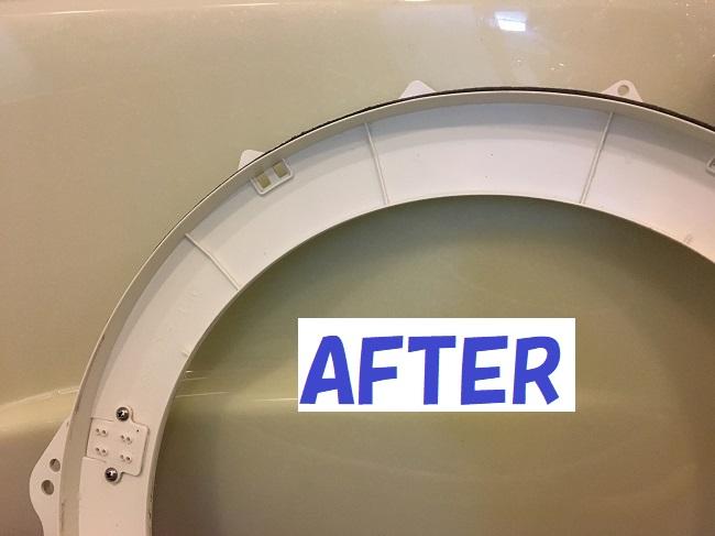 洗濯口掃除後
