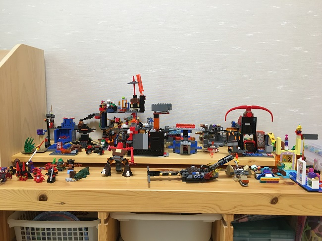 作られたレゴブロックの数々