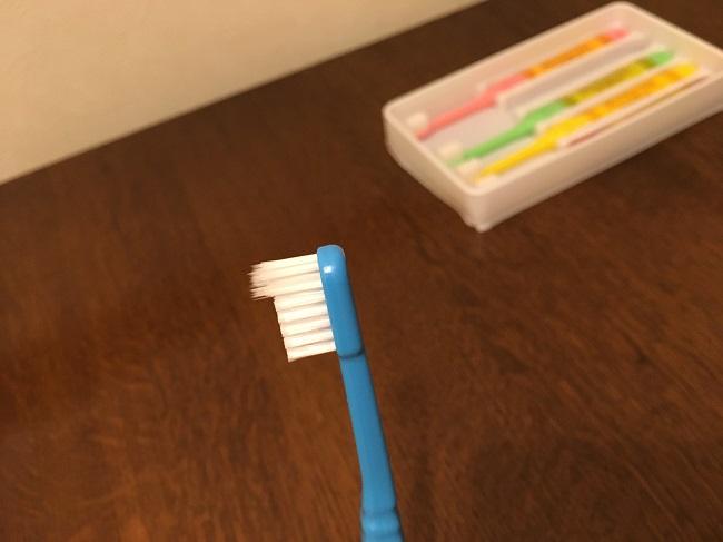 歯ブラシの先端部分