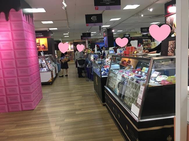 高島屋大阪店チョコレート販売会場の様子