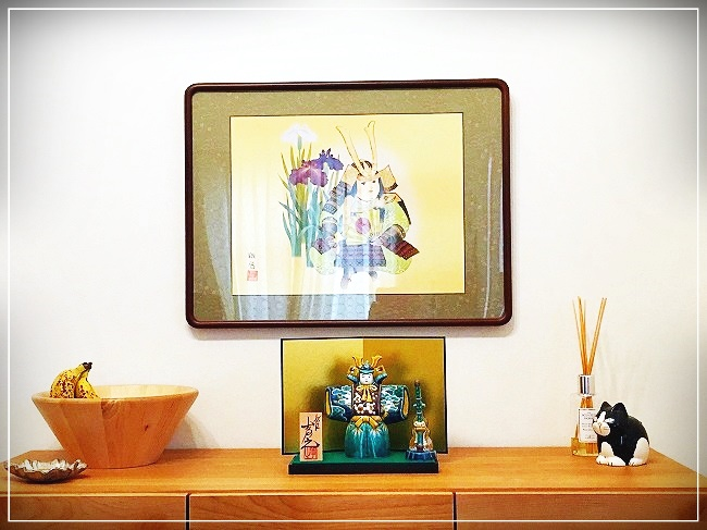 九谷焼の五月人形と絵
