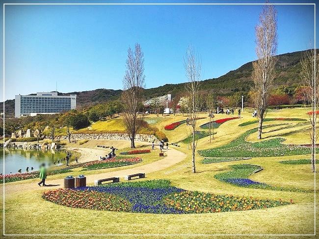 美しく整備された公園
