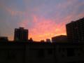 [風景][空][夕焼け]会社からの夕焼け。