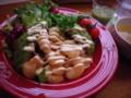 新宿「アボカド」のアボカドと海老のマリネ丼