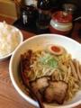 早稲田「からし麺」のからし麺+ライス(必須)
