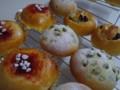 塩豆ぱん&すももジャムパン&レーズンとアーモンドパン