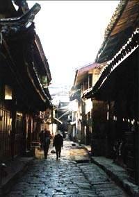麗江古城中的老街