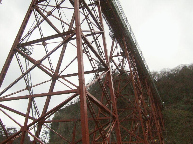 餘部探訪(4)国道178号線から橋脚を(香住方面)
