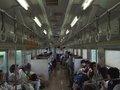 [鉄道][風景][キハ143系]036:札沼線587D車窓・50系客車改造のキハ143系車内/080725