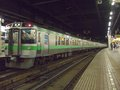 [鉄道][721系][貫通幌]721系F-14編成(Mc721-14側)+731系/札幌駅2008.07.25