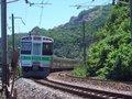 [鉄道][風景][721系]085:721系・快速エアポート(新千歳行き)/朝里海水浴場付近2008.07.26