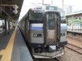 [鉄道][キハ201系][貫通幌]EC/DC併結(23)963M・キハ201系側(201-303)/小樽駅080728