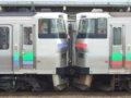 [鉄道][キハ201系][731系][貫通幌]EC/DC併結(14)キハ201系と731系・ガッチャーミー(D-103+G-116)/小樽駅080728