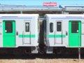 [鉄道][キハ150系][貫通幌]キハ150-11(左)+14(右)連結面(2940D)/小樽駅2008.07.26
