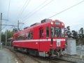 [鉄道][名鉄600V]名鉄モ606・関方面から到着/美濃町線白金駅2005.03
