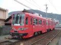 [鉄道][名鉄600V]名鉄モ886+887/美濃町線日野橋駅2005.03