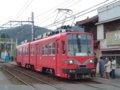 [鉄道][名鉄600V]名鉄モ887+886/美濃町線日野橋駅2005.03