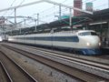 [鉄道][新幹線]こだま639号(0系R61編成:21-7008側)700系接近/西明石駅2008.11