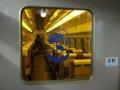 [鉄道][新幹線]こだま674号車内(R67編成25-7902:3号車)デッキ仕切扉(原型)/08.11.29