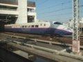 [鉄道][新幹線]★018:はやて17号大宮駅到着、東京行きはやてとすれ違い/2008.12.12