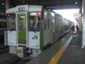[鉄道][キハ100系][貫通幌]☆016:キハ100-205+203(快速しもきた3731D)/八戸駅081212