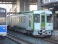 [鉄道][キハ100系][貫通幌]☆034:キハ100-205+204(快速しもきた3726D)/八戸駅到着081213
