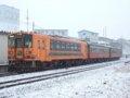 [鉄道][貫通幌]☆080:津軽鉄道ストーブ列車併結21-101+オハフ33-1+オハ46-2