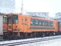 [鉄道][貫通幌]☆081:津軽鉄道ストーブ列車併結21-101/津軽中里駅081213
