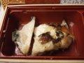 [鉄道][Misc.]★293:のぞみ87号車内/八戸の日曜朝市で買った焼き魚(銀むつ)081214