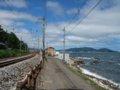 [鉄道][風景]274:朝里海水浴場付近から函館本線・朝里駅方面/2008.0726